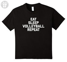 Kids Eat, Sleep, Volleyball, Repeat T-Shirt funny saying novelty 4 Black (*Amazon Partner-Link)