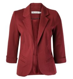 cuffed burgundy open blazer - Ricki's!!!! Great deal on this today ♥♡♥