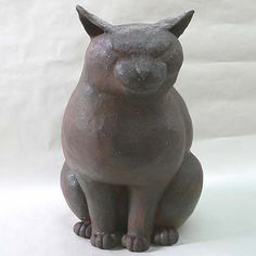 Nobi cat | ceramic with iron glaze | by Shinichi Honma