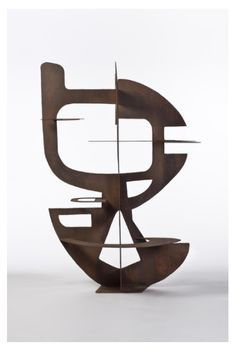 Sculpture,1952 (cut sheet iron and welded single piece) by Berto Lardera.