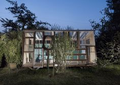 Pavillon made from recycled windows  #Pavillon, #Recycled, #Windows