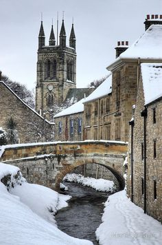 Snowy Helmsley, Yorkshire, UK by adele