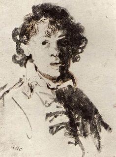 Rembrandt Harmensz van Rijn, Dutch, Self-Portrait with Mouth Open… Rembrandt Etchings, Rembrandt Self Portrait, Rembrandt Drawings, Rembrandt Art, Leiden, Giacometti, Portrait Sketches, Pencil Portrait, Portrait Ideas