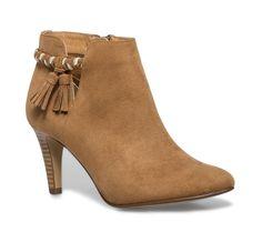 Boots cut out pompons camel - Chaussures femme Eram 69€