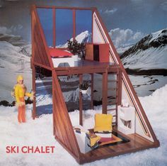 Tuesday Taylor doll's Ski Chalet ~ Not Barbie, but I luv this simple houseplan. – Modern Kiddo