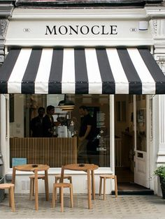 Black and White Striped Awning Business - Google Search