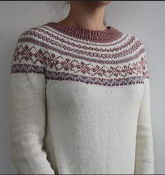 Adams mom Sweater Knitting pattern by Aida Sofie Knits