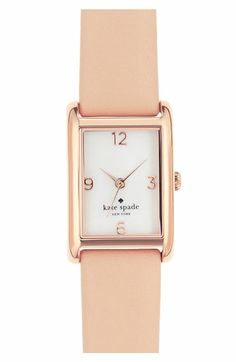 kate spade new york 'cooper' leather strap watch, 21mm x 32mm available at #Nordstrom