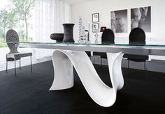 Modern Glass Dining Table Contemporary Dining Table Bases