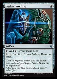 Magic the Gathering mtg Hedron Archive Battle for Zendikar uncommon artifact card