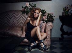 Uno scatto della campagna Fall/Winter 2013-2014 che propone Il nostro #Sandalo in camoscio nero con sovrastruttura in pizzo macramè nero e #bordature in camoscio nero tempestate di #swarovski cristallo!