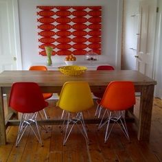 more for the colour...Farmhouse Tables by Rabbit Trap Timber