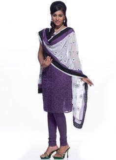 Appealing Purple Salwar Kameez