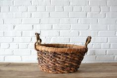 Basket #5: Gorgeous woven basket with lovely handmade detail.  Great for photo shoots, guest favors, programs or a place to hold a soft blanket in a lounge area!