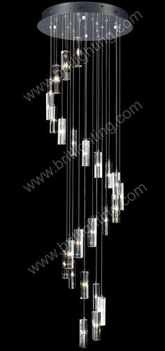 "Rustic Crystal Chandeliers modern contemporary chandelier spiral ""rain drop"" helix"