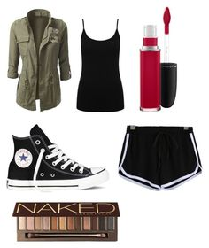 """Untitled #22"" by jemimacummings on Polyvore featuring MAC Cosmetics, Converse, M&Co and Urban Decay"