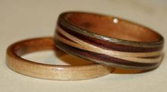 Cross Spiraled Inlays on wood rings