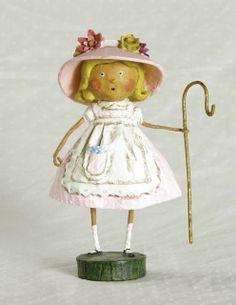 Where is Little Bo Peep's little Sheep? Cute Lori Mitchell Figurine.
