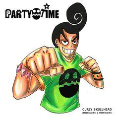 PARTY TIME - Curly Skullhead by ninjakees.deviantart.com on @DeviantArt