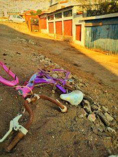 Le sacaron las rueditas a esa bicicleta