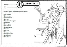 L'as-tu vu?, lire, lecture, compréhension, mots, cp, ce1, autonomie, dixmois Bricolage Halloween, Core French, French Class, French Lessons, Winter Art Projects, Halloween News, School Games, Teaching French, French Teacher