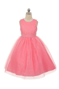 Flower Girl Dress Style 1031 - Sleeveless Tulle Dress with Beaded Waist in Choice of Color  Classic beauty with extra flare. We love this style because it can be worn from event to event. So much versatility! This is a style that is timeless and can be passed from one generation to the next.  http://www.flowergirldressforless.com/mm5/merchant.mvc?Screen=PROD&Product_Code=RK_1031CO&Store_Code=Flower-Girl&Category_Code=Coral_Peaches_Orange