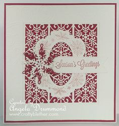 I have a couple of cards for you today made with the Sue Wilson christmas dies I have bought recently from Set Craft Supplies: A4 Festive Embossing Folder – Frosty Swirls A4 Festive Embossing…