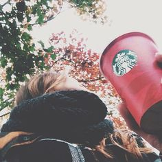 Warm & snuggly time of year. Fall is my favourite season and Starbucks chai tea lattes are my favourite drinks!