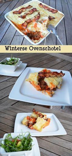 Heerlijke Winterse Ovenschotel met gehakt. Smakelijk Eten! #recept #serviesgoed #ovenschotel