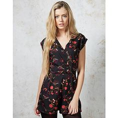 Ark Cady Floral Playsuit - A unique streetstyle store stocking own labels Hearts & Bows + CLOAK plus Fred Perry, Carhartt, ASA, Motel and more #floral #party #playsuit