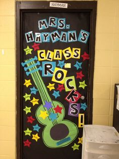 Rockstar themed door Pinning so I can remember what I did for next year!!