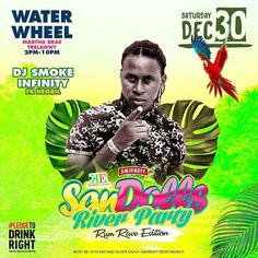 Soca Hiphop Dancehall or just a few of the genre Smokeinfinity will be mixing at . . SanDolls  River Party . . Saturday Dec 30th at The Water Wheel Falmouth Trelawny... .  Follow @sandolls_river_party for more info . .  #riverparty #sandolls #falmouth #winter #sexygirl #greatvibes #rum #sun #food #techno #hiphop #dancehall #soca #rnb #reggae #nighlife #jamaica #caribbean #jamrock #beautifulpeople
