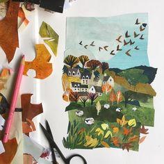 Paper Collage Art, Paper Art, Cut Paper Illustration, Posca Art, Painted Paper, Art Lessons, Art For Kids, Art Projects, Art Drawings