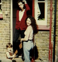 Nick, Viviane, and Luke. Cave Images, Poster Boys, The Bad Seed, Nick Cave, Lovely Creatures, Celebrity Portraits, Artist Life, Animal Faces, Great Bands