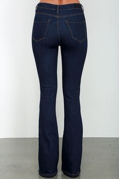 Blank NYC Lies and Alibis Dark Wash Flare Jeans at Lulus.com!