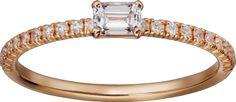 Sortija Etincelle de Cartier Oro rosa, diamantes
