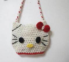 Mundo crochet: Bolso hello kitty