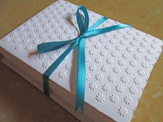 Flowers Embossed Card Set / Note Card Set/ by DreamsByTheRiver, $7.00
