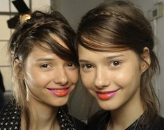 Funky lips at Holly Fulton ss13......love orange and pink!