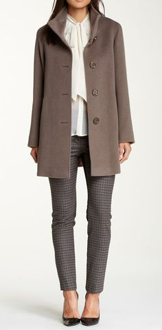 Cinzia Rocca | Mock Neck Wool Coat i love this look