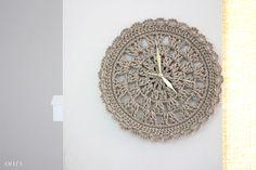 Crochet clock PDF Pattern wall clock for home decor clock от ooty Embroidery Scissors, Vintage Embroidery, Embroidery Designs, Crochet Wall Art, Crochet Home Decor, Pattern Wall, Wall Patterns, Crochet Doilies, Crochet Yarn