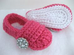Spring Baby Girl Shoes / Booties - White & Pink - YOUR choice size - (newborn - 12 months) - photo prop - clothing