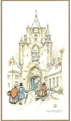 Anton Pieck als tekenaar van Heemsteedse en Haarlemse/Bloemendaalse taferelen Fairy Tale Forest, Fairy Tales, Anton Pieck, Dutch Painters, Dutch Artists, Watercolor Sketch, Art World, Painting & Drawing, How To Draw Hands