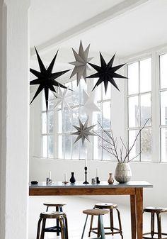 5 Point Papierstern Schwarz Ø 45cm - Sterne - Trends - Shabby-Style.de von House Doctor