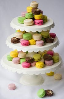 3 towers two macaron towers one tower small macarons on bottom cake on top wedding ideas 2. Black Bedroom Furniture Sets. Home Design Ideas