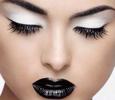 Black and white eyeshadow makeup tutorial » Girls Beauty Look