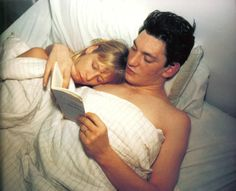 """Nan Goldin's Pocket Monograph  featuring """"Patrick and Teri reading Baudelaire - 1987"""" available at Bookmarc"""