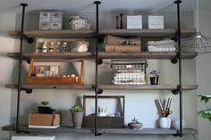 Design DIY: Industrial Rustic Shelf | California Home + Design