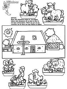 Boerderij - Kijkdoos - Knutselpagina.nl - knutselen, knutselen en nog eens knutselen.