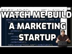 Watch Me Build a Marketing Startup - YouTube Build An App, Learning Goals, Competitor Analysis, Sales And Marketing, Machine Learning, Computer Science, First Names, Way To Make Money, How To Become